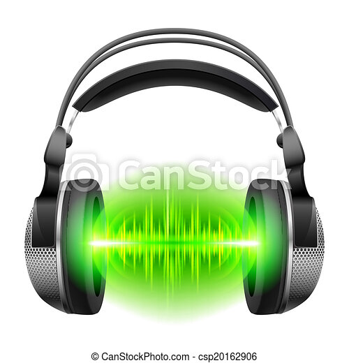 Headphones with music playing - csp20162906