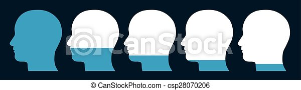 Heads with a decreasing level  - csp28070206