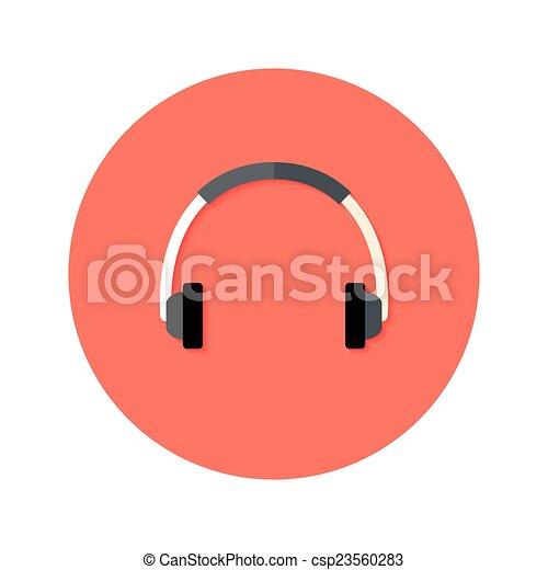 Headset Flat Circle Icon - csp23560283