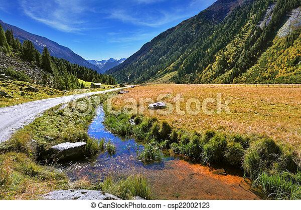Cascadas de agua krimml - csp22002123