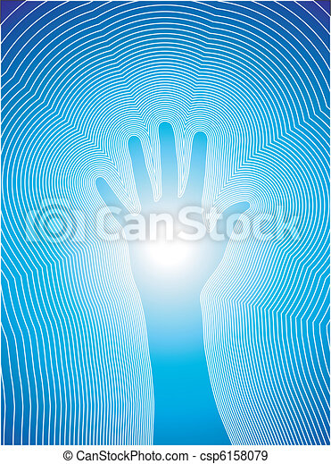 Healing hand with reiki lines - csp6158079