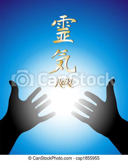 Healing reiki hands - csp1855955