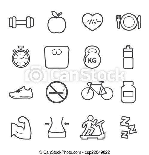 Health and Fitness icon - csp22849822