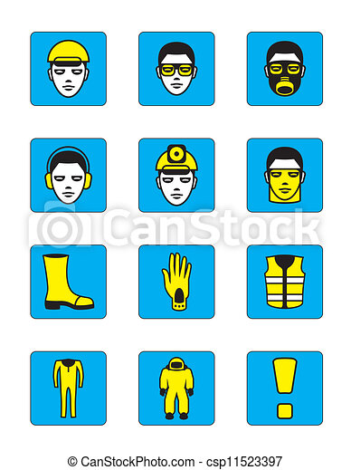 Health and safety icons set - csp11523397
