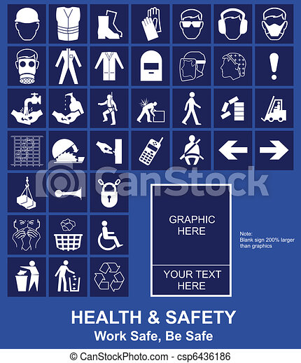 Health and Safety sign  - csp6436186