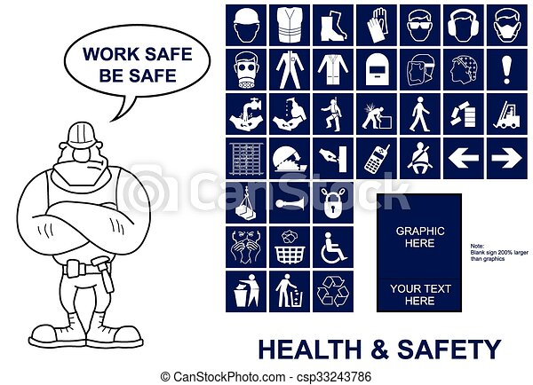 Health and Safety signs - csp33243786
