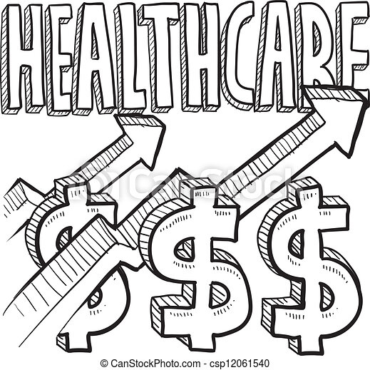 Health care costs increasing sketch - csp12061540