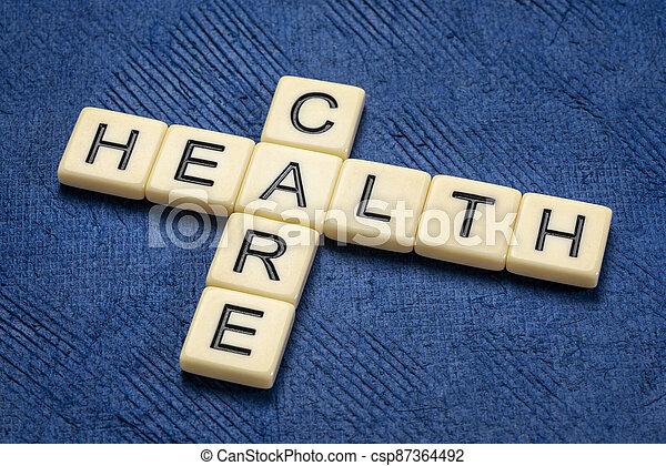 health care crossword - csp87364492