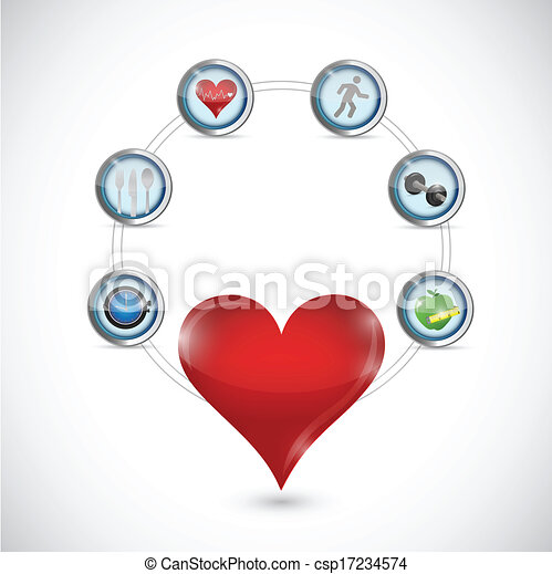 health care diagram illustration design - csp17234574