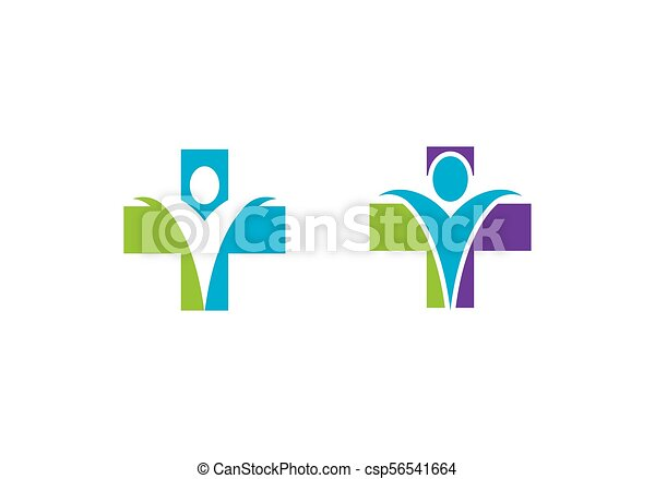 Health care logo sign - csp56541664