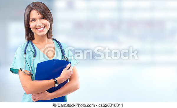 Health care medical doctor woman. - csp26018011
