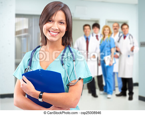 Health care medical doctor woman. - csp25008946