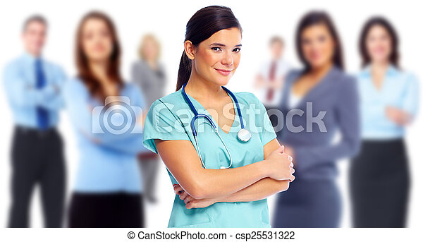 Health care medical doctor woman. - csp25531322