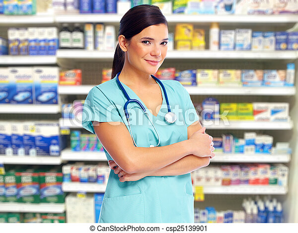 Health care medical doctor woman. - csp25139901