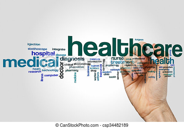 Health care word cloud - csp34482189