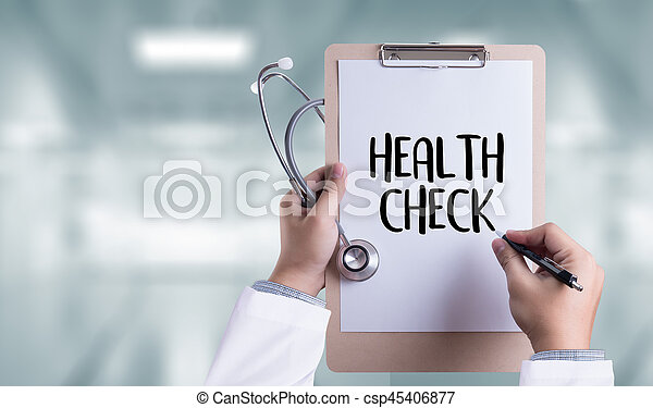 HEALTH CHECK Medicine doctor working with computer interface as medical - csp45406877