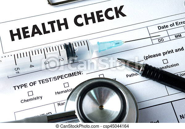 HEALTH CHECK Medicine doctor working with computer interface as medical - csp45044164
