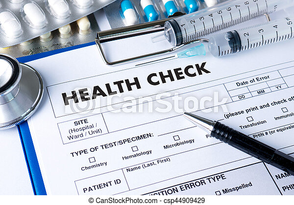 HEALTH CHECK Medicine doctor working with computer interface as medical - csp44909429