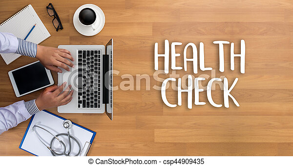 HEALTH CHECK Medicine doctor working with computer interface as medical - csp44909435