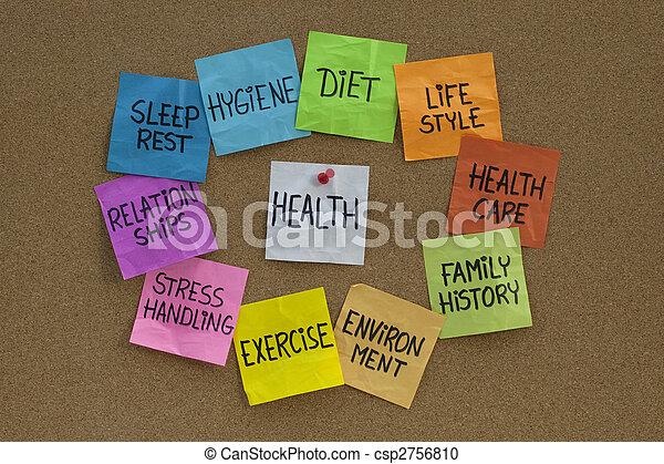 health concept - cloud of related words and topics - csp2756810