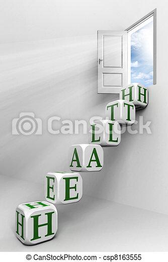 health conceptual door - csp8163555