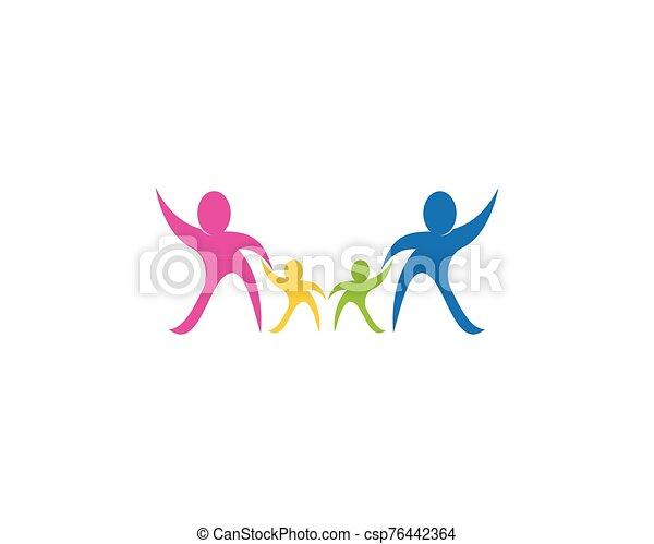 Health family care logo vector - csp76442364