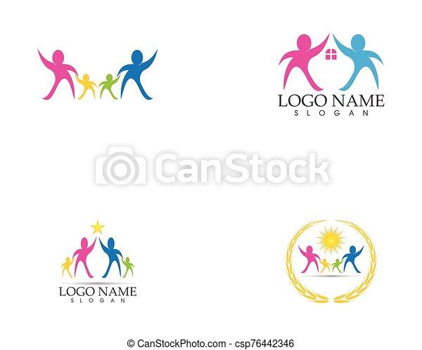 Health family care logo vector - csp76442346
