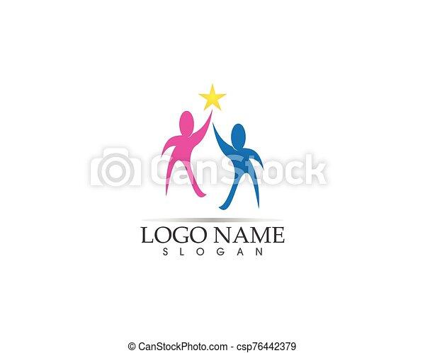 Health family care logo vector - csp76442379