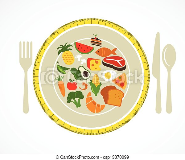 Health food plate - csp13370099