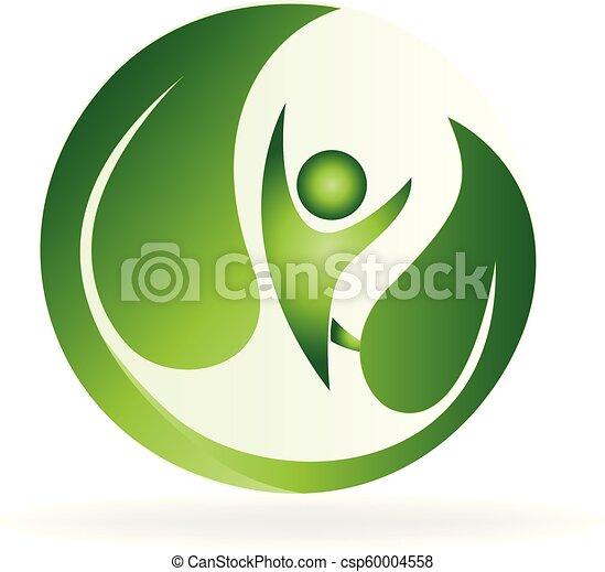 Health green nature logo - csp60004558