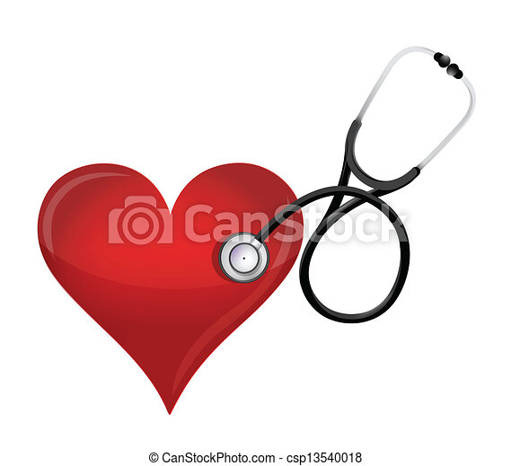 health heart concept with a Stethoscope - csp13540018