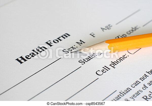 Health history form  - csp8543567