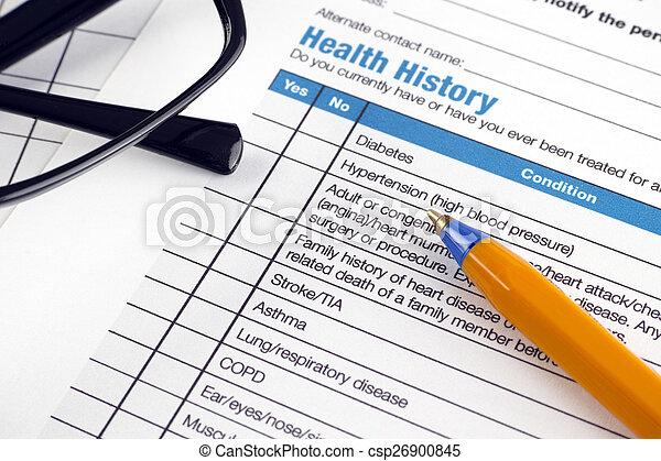 Health History - csp26900845