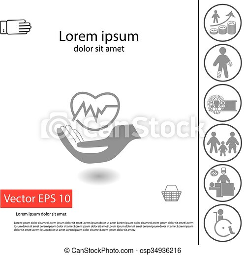 Health Insurance Icon Protection Symbol And Illustration Of