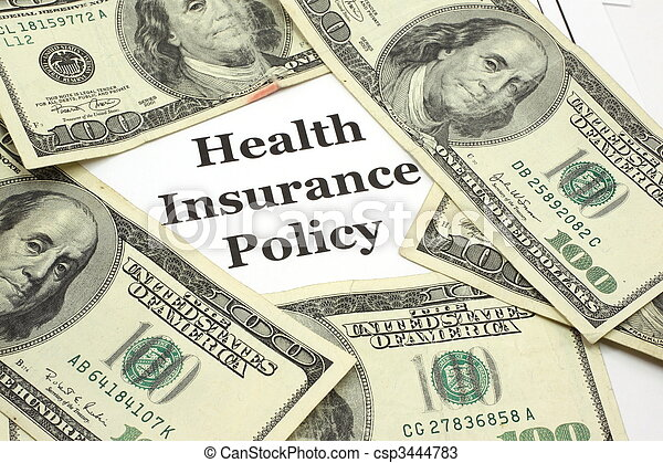 Health Insurance Policy costs cash - csp3444783