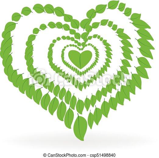 Health nature heart logo - csp51498840