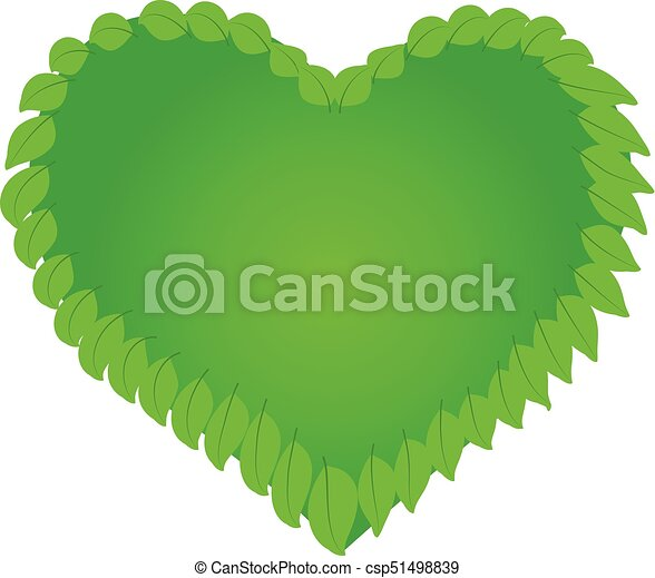 Health nature heart logo - csp51498839