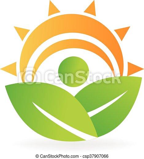 Health nature leafs energy logo - csp37907066
