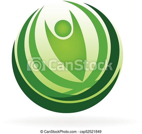 Health nature logo - csp52521849
