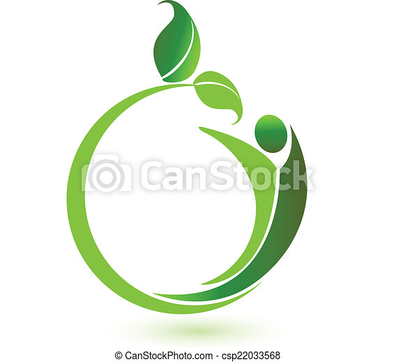 Health nature logo vector - csp22033568