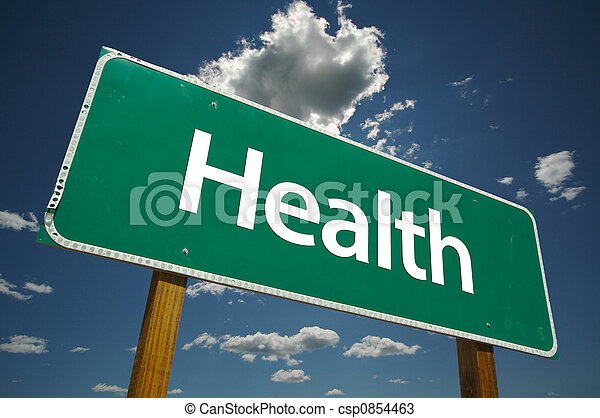 Health Road Sign - csp0854463