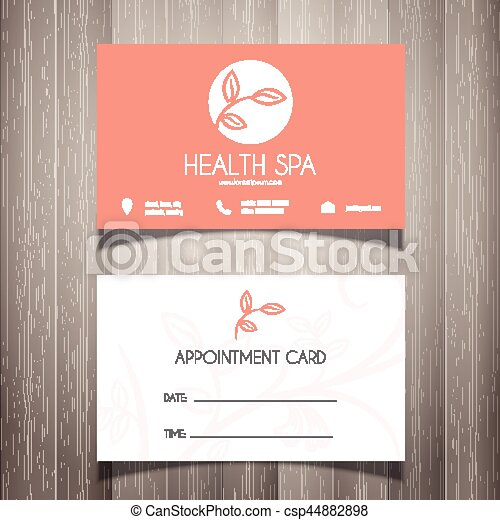 Health Spa Or Beautician Business Card Appointment Card