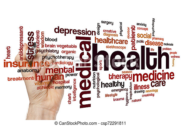 Health word cloud - csp72291811