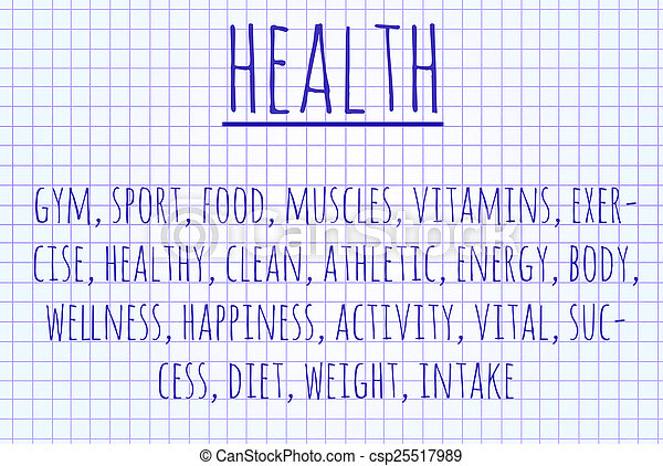 Health word cloud - csp25517989