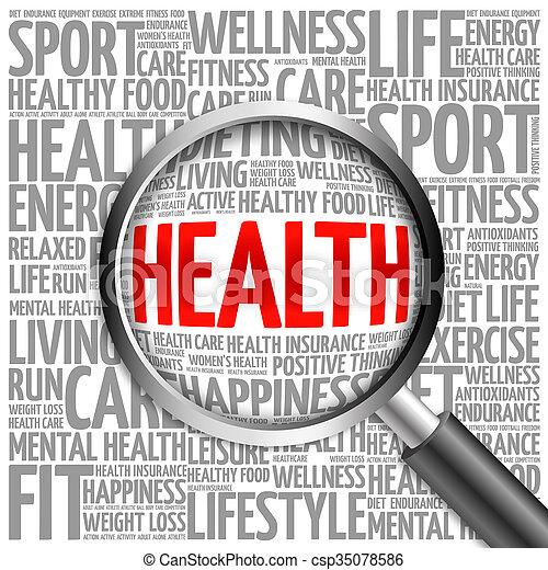 Health word cloud - csp35078586