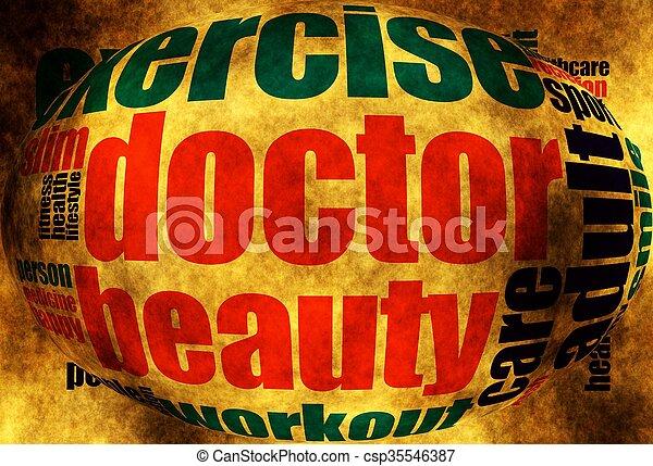 Health word cloud - csp35546387