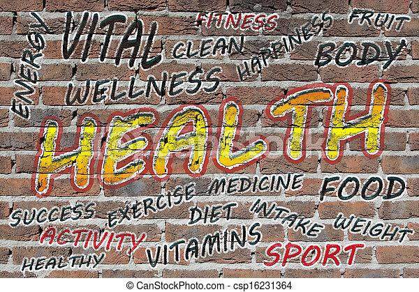 Health word cloud - csp16231364