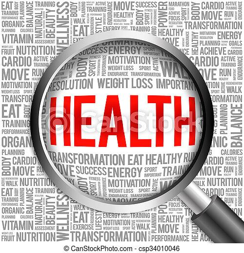 Health word cloud - csp34010046
