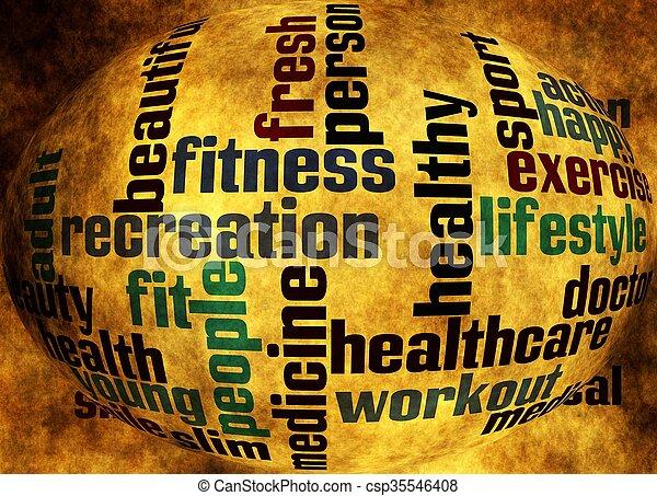 Health word cloud - csp35546408