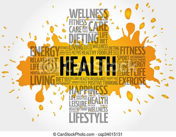 Health word cloud - csp34015131